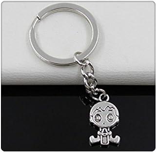 Fashion diameter 30mm Key Ring Metal Key Chain Keychain Jewelry Antique Silver Plated baby boy 2413mm Pendant