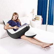 Australian Made Pregnancy/Maternity/Nursing Pillow Body Feeding Support (Black x White Pillowcase Included)