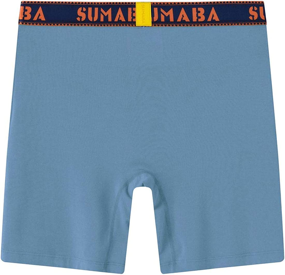 SUMABA Mens Underwear Moisture-Wicking Big Stretch Colorful Boxer Briefs M L XL 2XL 3XL