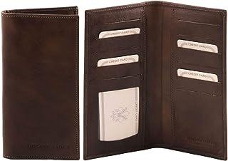Tuscany Leather Esclusivo portafoglio verticale in pelle 2 ante Testa di Moro