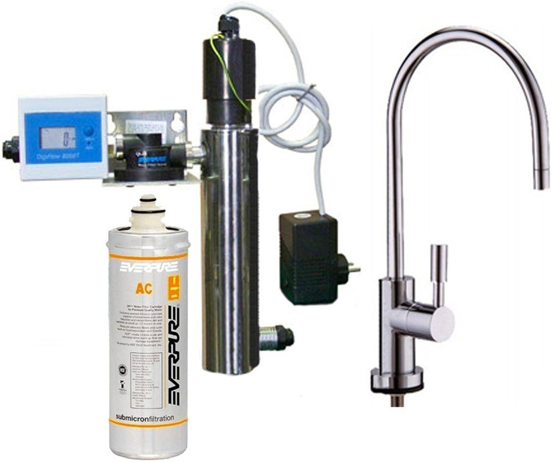 Everpure Filtersystem mit UV 12Watt, Filter AC und Wasserhahn 1VIA Terence