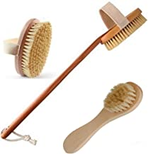 AyaZen Dry Body Brush With Detachable Handle And Dry Brush For Face-Premium Dry Skin Brushing Improves Skin's Health And Beauty