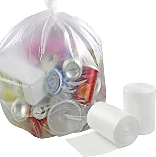 Idomy 8 Gallon Clear Trash Bags Thick 100 Counts