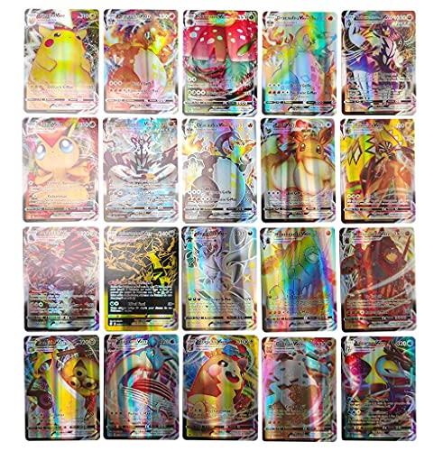 BSTCAR Lot de 100 cartes danimation Tag Team version françai