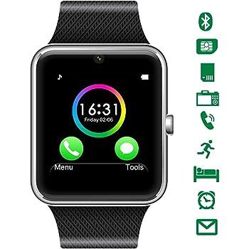 CHEREEKI Bluetooth Smart Watch con cámara soporta tarjeta SIM TF ...