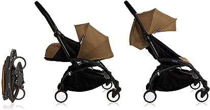 Babyzen Yoyo+ Stroller & Newborn Set - Black Frame with Toffee Fabrics