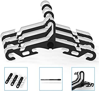 jiankun 6 Pack Portable Folding Clothes Hangers,Drying Rack for Family, Travel,Car and Camp