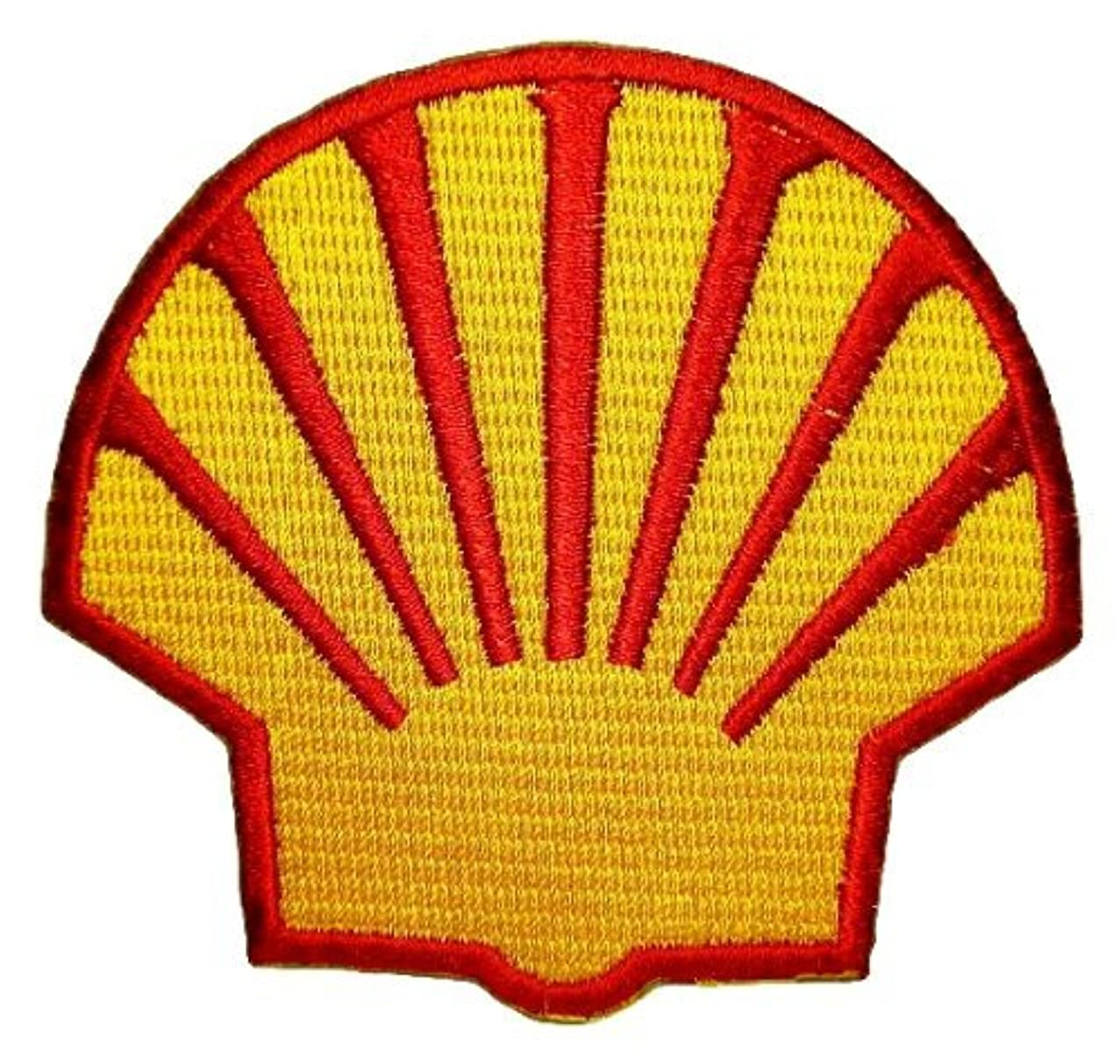 Shell gas station Oil petroleum F1 Patch Sew Iron on Logo Embroidered Badge Sign Emblem Costume BY Dreamhigh_skyland