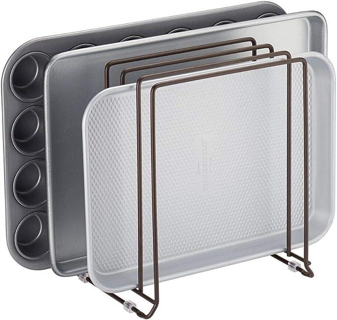 2175 opinioni per mDesign Porta padelle e teglie in metallo – Compatto porta coperchi pentole per