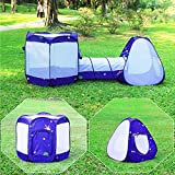 Homfu 3 en 1 Juegos Parque Infantil túnel Casa para Muchachos Muchachas para Al Aire Libre Caminatas Chilren Playtent con Popup Design (Púrpura)