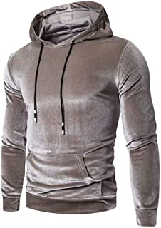 Men's Hoodies Pullover - nylon lining and smooth outer materialMen's Hooded Sweatshirt,Top Casual Hoody with Pocket,Leisur...