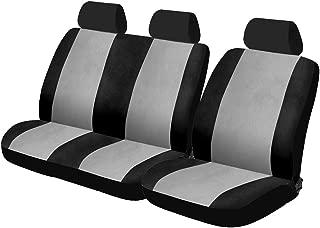 Zakschneider Fundas De Asiento para Mercedes Vito Cargo Conjunto De Fundas 1+2 Color Premium Negro con Tri/ángulos Grises