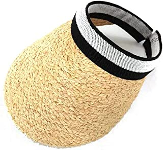 Hats Female, Straw Hat, Sunscreen Summer, Lafite, No Hat, Fashion (Color : Beige, Size : F)