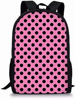Fashion Cute Polka Dot Print Backpack for Girls Kid Shoulder Daypack Bookbag, Pink Black Polka Dot (Pink Black Polka Dot) - PA-BKC-HBC19055C