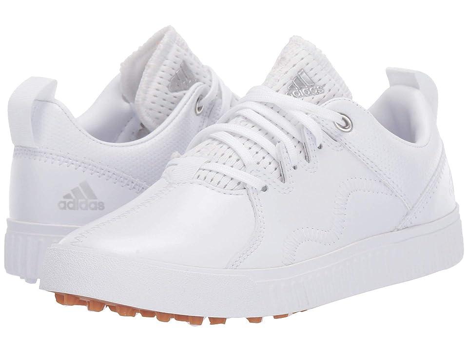 adidas Golf Jr. Adicross PPF (Little Kid/Big Kid) (Footwear White/Silver Metallic/Gum) Men