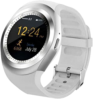 1.54inch Y1plus Blue-Tooth Smartwatch,Unlocked Smartwatch Phone with Pedometer Sleep Monitor Walking Distance Watch for iOS Android Smartphones