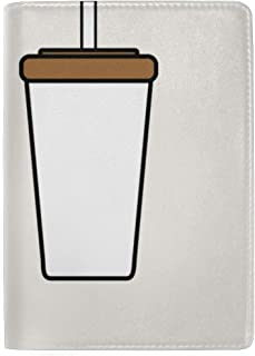 Making Tea Pearl Milk Tea Blocking Print Passport Holder Cover Case Travel Luggage Passport Wallet Card Holder Made with Leather for Men Women Kids Family