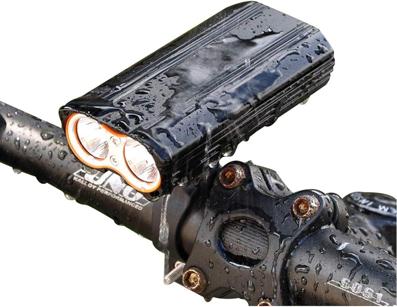 Bike Light,USB Rechargeable Double LED Bicycle Light,4 Lighting Modes Cycling Light,Waterproof Bike Headlight