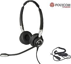 Polycom Certified Jabra BIZ 2400 II Duo Headset Bundle for 300 301 335 430 450 500 501 550 560 600 601 650 670 CX300 CX500 CX600 CX700 VVX 101 VVX 201 VVX 300 VVX 310 VVX 400 VVX 410 VVX 500 VVX 600