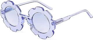 Sunglasses for Kids Round Flower Cute Glasses UV 400 Protection Children Girl Boy Gifts