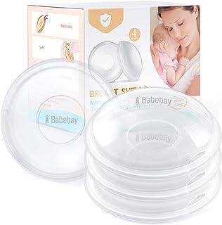 Breast Shells, 4 Pack Nursing Cups, Milk Saver, Protect Sore Nipples for Breastfeeding, Collect Breastmilk Leaks for Nursi...