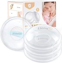 پوسته سینه ، 4 فنجان پرستاری ، بسته شیر ، محافظت از نوک سینه ها برای تغذیه با شیر مادر ، جمع آوری نشت شیر مادر برای مادران پرستار ، مواد سیلیکونی نرم و انعطاف پذیر ، قابل استفاده مجدد (بسته پنهان 4)