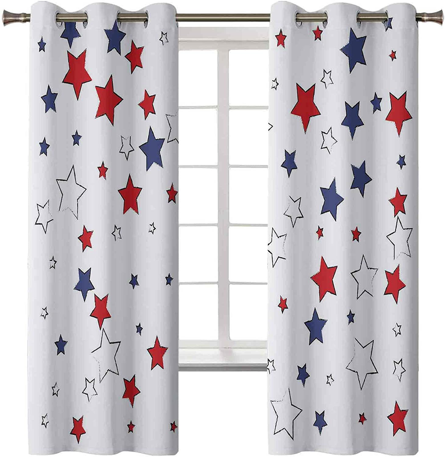 Fourth of July Curtains for Stars Independence Gorgeous Nati Bedroom Day Arlington Mall