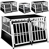 TecTake Dog cage trapezoidal - different models - (104x90,5x71cm | No. 402226-6)