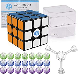 Coogam Gan 356 Air Master Speed Cube 3x3 Black Gans 356 Air Puzzle Cube with New Blue Cores (Master Version)