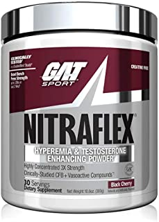 GAT Sport NITRAFLEX Testosterone Boosting Powder, Increases Blood Flow, Boosts Strength and Energy, Improves Exercise Perf...