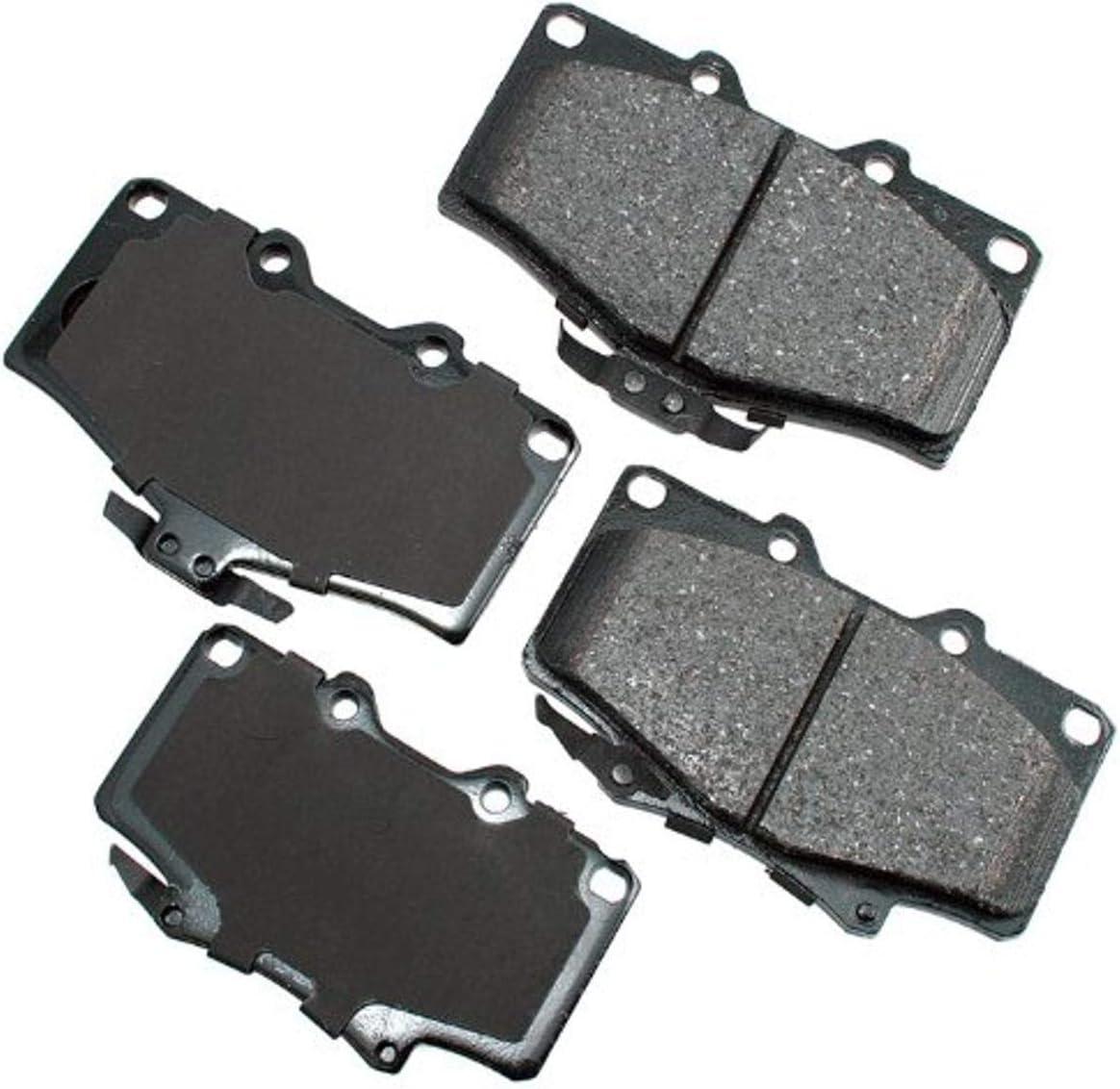 Akebono ACT502 Proact Ultra Premium Disc Great interest service Brake kit Ceramic Pad