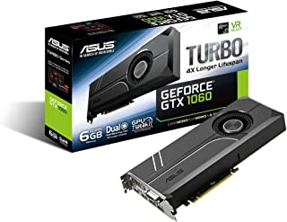 ASUS Geforce GTX 1060 6GB Turbo Edition VR Ready Dual HDMI 2.0 DP 1.4 Auto-Extreme Graphics Card (TURBO-GTX1060-6G)