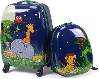 Niños Equipaje de Viaje con Mochila 2 Piezas Maleta para Infantil (Jungla)
