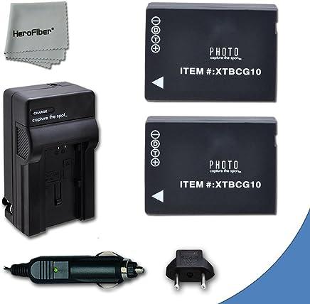 2 High Capacity Replacement Panasonic DMW-BGC10 / DMW-BGC10PP Batteries with AC/DC Quick Charger Kit for Panasonic Lumix DMC-3D1, DMC-TZ6, DMC-TZ10, DMC-TZ18, DMC-TZ19, DMC-TZ20, DMC-TZ25, DMC-TZ30, DMC-TZ35, DMC-ZR1, DMC-ZR3, DMC-ZS1, DMC-ZS5, DMC-ZS6, DMC-ZS7, DMC-ZS8, DMC-ZS9, DMC-ZS10, DMC-ZS15, DMC-ZS19, DMC-ZS20, DMC-ZS25, DMC-ZX1, DMC-ZX3 Digital Cameras