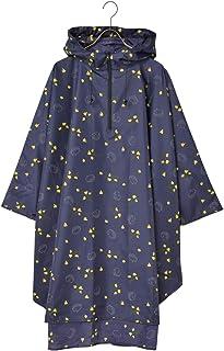 Nifty Colors(ニフティカラーズ) レインコート ハリネズミ レインポンチョ ネイビー ワンサイズ 155-175cm