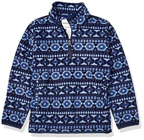 Amazon Essentials Jungen Quarter-Zip Polar Fleece Jacket, Blau, Large