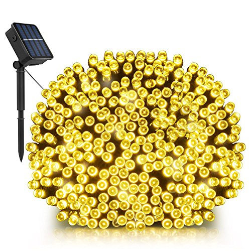 Solar String Lights, LDesign 72ft 200 LED Solar Twinkle Romantic Powered Starry Fairy Lights Waterproof(IP65) Outdoor Indoor String Lights for Garden, Home, Christmas, Party, Mall-8 Modes Warm White