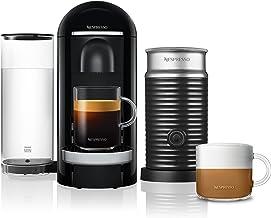 Nespresso VertuoPlus Premium Coffee Machine, Black & Aeroccino Milk Frother Bundle