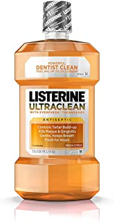 Listerine Ultraclean Antiseptic Fresh Citrus 1500 mL (Pack of 2)