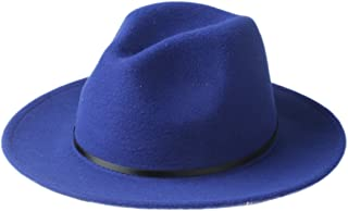 RongAi Chen Fedora Hat For Laday Wide Brim Sombreros Jazz Church Cap Panama Fedora Top Sun Hat