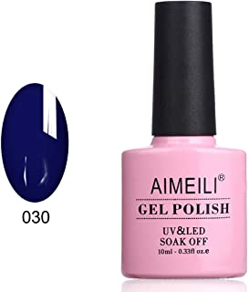 AIMEILI Soak Off UV LED Gel Nail Polish - Navy Seals (030) 10ml