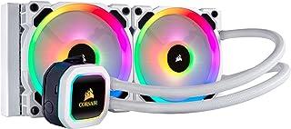 Corsair Hydro 100i RGB Platinum SE - Radiador de 240 mm (Dos LL120 RGB PWM Ventiladores, iluminación RGB Avanzada Control de Ventiladores con Software), refrigerador líquido, Blanco