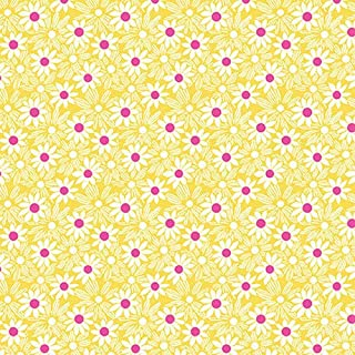 HENRY GLASS & CO. Nana Mae III 1930's Reproduction Fabric Packed Daisies Yellow Style 1667/44