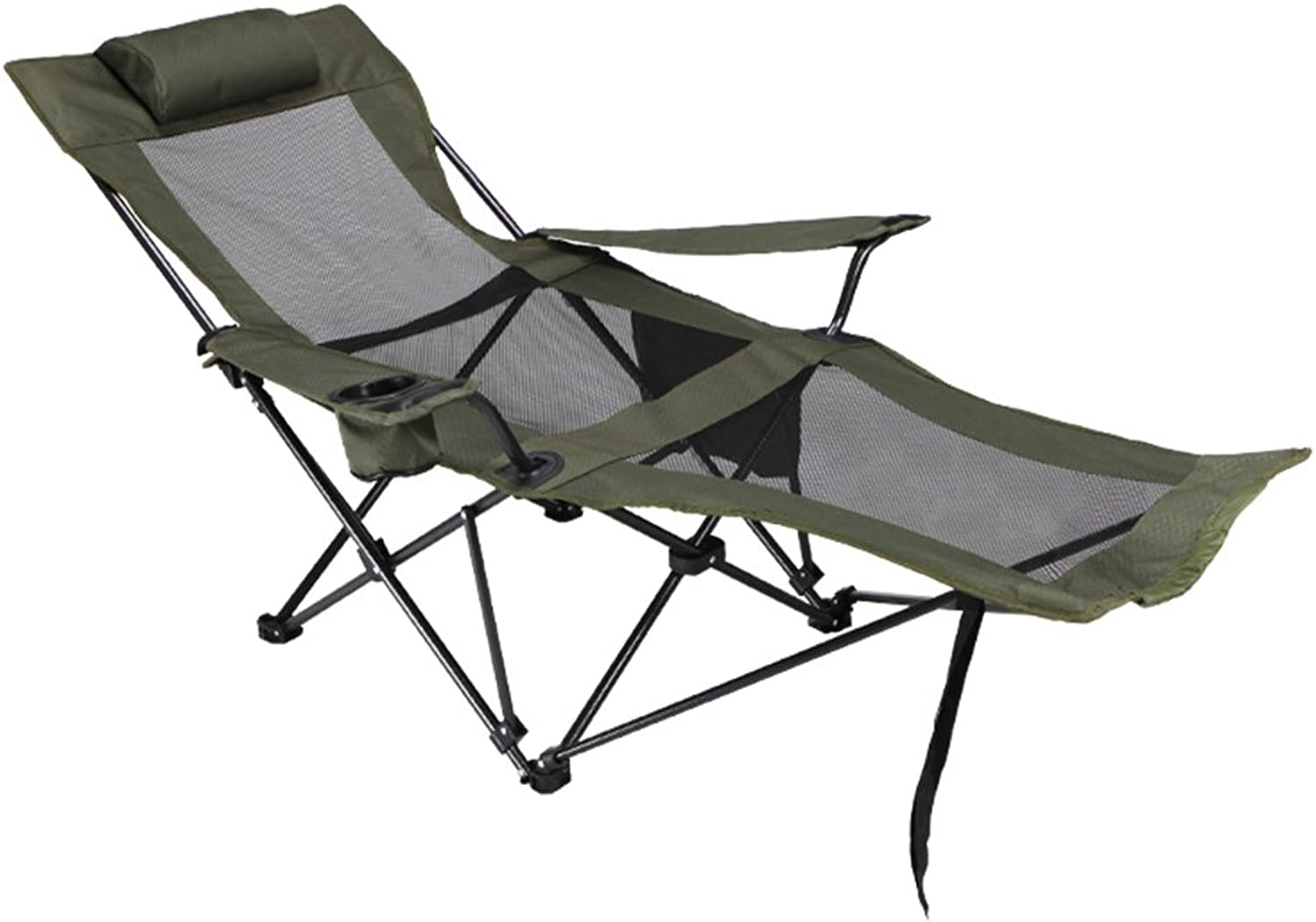 ZGL Outdoors Folding Camping Chair Lunch Break Recliner Lightweight Comfortable for All Outdoor Events in Lawn Beach Fishing Hiking