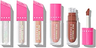 Morphe x Jeffree Star Iconic Nudes Lip Collection - 5 Piece Set - Liquid Lipstick, Gloss and Topper - Liquid Lippies Meet High-Shine Glosses In One Jaw-Dropping Package
