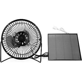 Solar Panel Powered Mini Portable Fan for Cooling Ventilation Home Travelling Fishing Akozon USB Fan