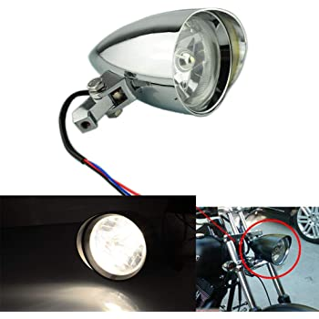 Chrome Billet Custom Headlight 5-3//4 Tri-Bar for Harley Sportster Dyna FX Softail Motorcycle