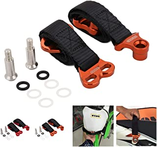 JFG RACING Universal Front Shock Absorber Tie Down Straps/Rear Rescue Pull Drag Belt For Off Road Motorcycle Dirt Bike - Orange (EXCEPT YZ250F/YZ450F 14-19)