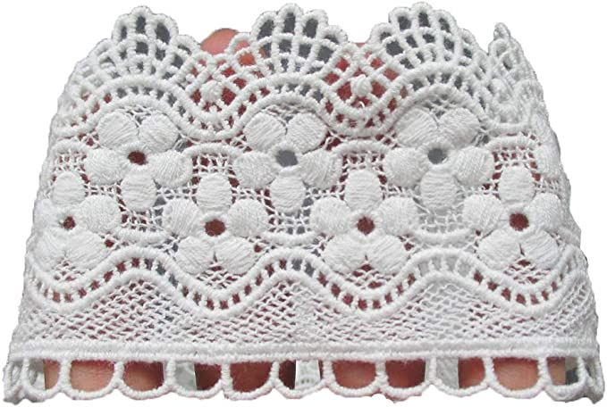 Elegant black color lace trim Each piece is sold in 3.1 yard lengths Design number L3B.