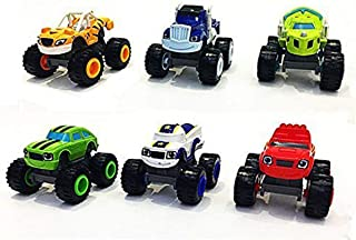 OYJD Monster Machines 6 pièces Set Truck Vehicles Racer Cars Toy